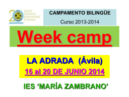 Week camp LA ADRADA (Ávila)