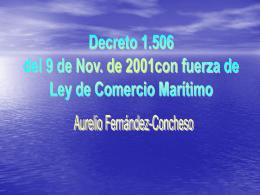 Ley de Comercio Marítimo 2004.