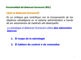 Funcionalidad del Balanced Scorecard