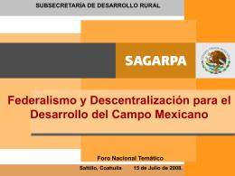 Mesa IV, ponencia 1 - Foro Nacional sobre Federalismo y
