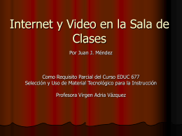 presentacion video - Material Educativo