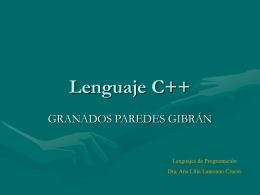 Lenguaje C++ Introducción