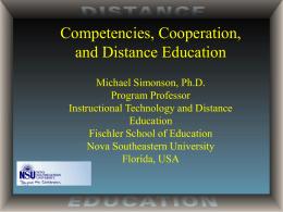 Distance education - Nova Southeastern University
