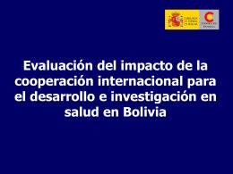 bloque evaluacion del impacto de la cooperacion internacional para