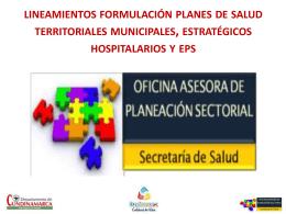 Lineamientos - Gobernación de Cundinamarca