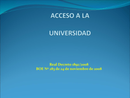 ACCESO A LA UNIVERSIDAD - IES Infante don Fadrique