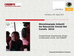 MINIOLIMPIADA INFANTIL DE EDUCACIÓN INICIAL 2010.