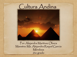 Cultura andina - Instituto Pedagógico Emmanuel Kant