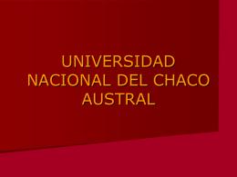 UNIVERSIDAD DEL CHACO AUSTRAL