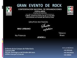 GRAN EVENTO DE ROCK