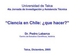 Presentacion Dr. Pedro Labarca