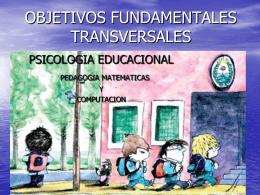 Definición de los Objetivos Fundamentales Transversales