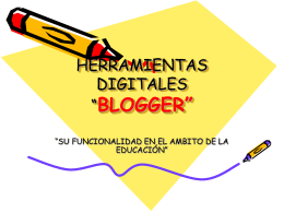 HERRAMIENTAS DIGITALES BLOGGER