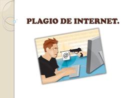 PLAGIO DE INTERNET.