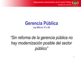 Gestión de políticas públicas