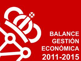 BALANCE GESTIÓN ECONÓMICA 2011