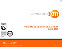 InformeEjecutivojul07 - XM