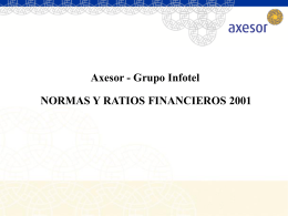 NORMAS Y RATIOS FINANCIEROS AXESOR