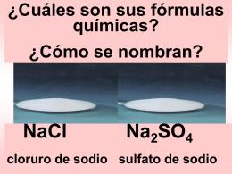 Nomenclatura y notación química de las sales binarias
