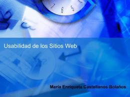 María Enriqueta Castellanos Bolaños Tipos de Sitios Web