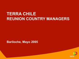 Objetivos Año 2005 Terra Chile