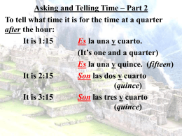 Asking and Telling Time – Part 2