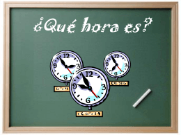 Qué hora es? - WordPress.com