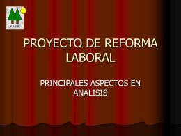 PROYECTO DE REFORMA LABORAL - Consejo Regional de Centro
