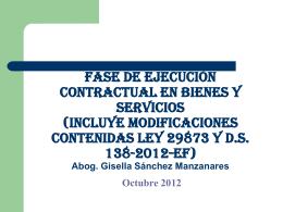 Fase de Ejecucion Contractual en Bienes y Servicios