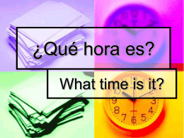 ¿Qué hora es? - Mounds View School Websites