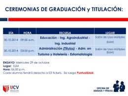 cronograma de ceremonia - UCV