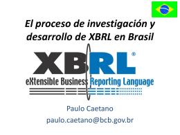 El proceso de investigación y desarrollo de XBRL en Brasil