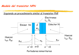 Modelo del transistor bipolar Transistor bipolar NPN