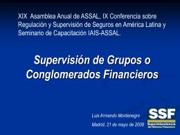 Supervisión de Grupos o Conglomerados Financieros Luis