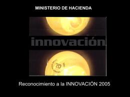 Innovación 2005 - Ministerio de Hacienda