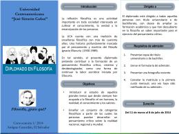 """Filosofía - Universidad Centroamericana """"José Simeón Cañas"""""""