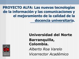 PROYECTO ALFA: Las nuevas tecnologías de la información y las