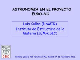 Astronomía en el proyecto EURO-VO