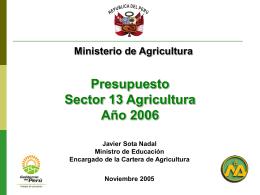 Ministro de Agricultura - Congreso de la República del Perú