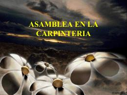 Asamblea en la carpintería - Parroquia San Luis Beltrán