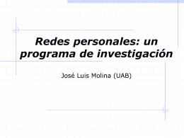 webredes/Sevilla - Revista Hispana para el Análisis de Redes