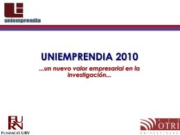 Uniemprendia para emprendedores 2010-FURV