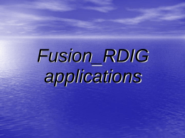Fusion_RDIG applications