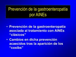 Profilaxis de la gastroenteropatía por AINEs