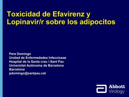 Toxicidad in vitro de efavirenz y lopinavir sobre los adipocitos