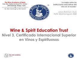 Cursos de la Wine and Spirit Education Trust en España