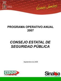Programa Operativo Anual 2007 (POA)