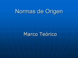 Introducción - Norma de Origen
