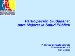 Propuesta de Sociedad Civil: Participación Ciudadana