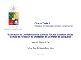 Charla I - Tesis Magíster - Departamento de Ciencias de la